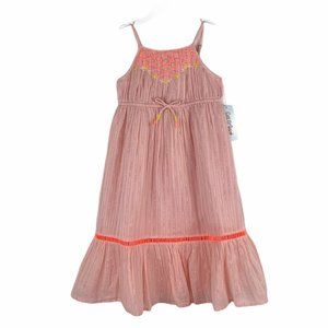 Cat & Jack Pink Sleeveless Embroidered Dress 3T